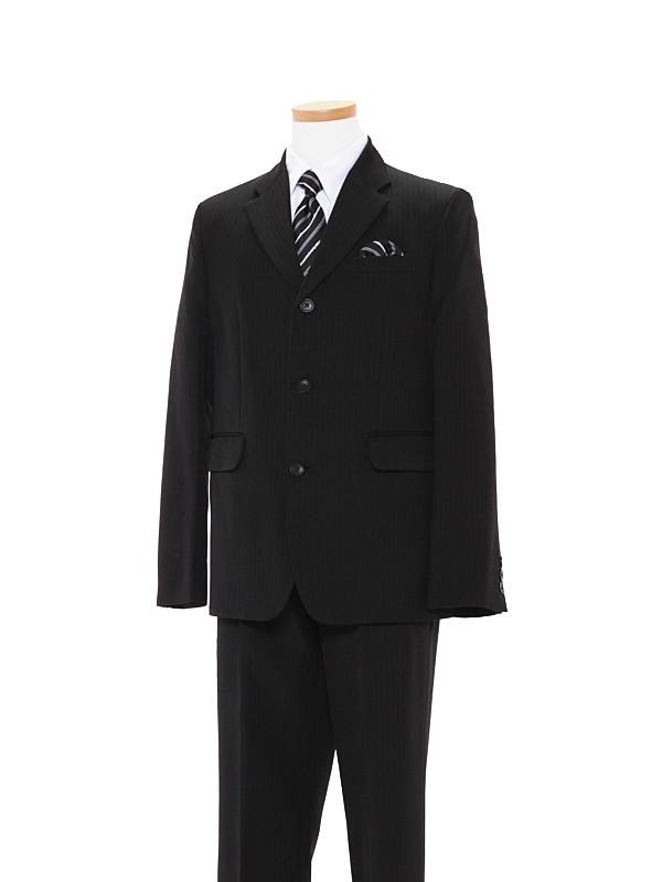 [男児]黒/白地ストライプシャツBS19