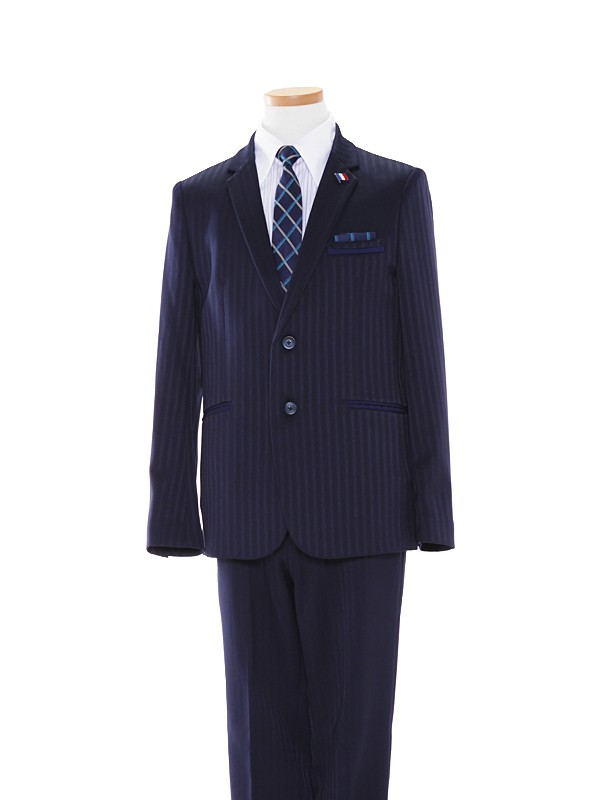 男児スーツ/165cm紺シャドーストライプBS36