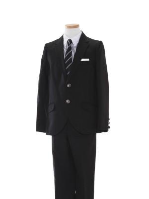 [男児スーツ]長ズボン/黒/ストライプシャツBS34