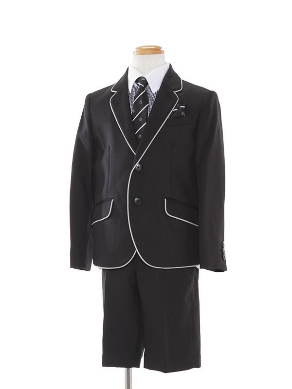 [男児]120cmパイピングジャケットスーツBS33