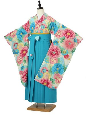 小学校卒業式ジュニア袴女0068 水色 SISTERJENNIダリヤ ブルー袴