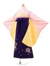 小学生卒業式袴(女の子)レンタルB068イエロー
