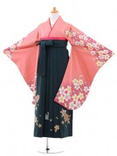 小学生卒業式袴(女の子)レンタルB057ピンク