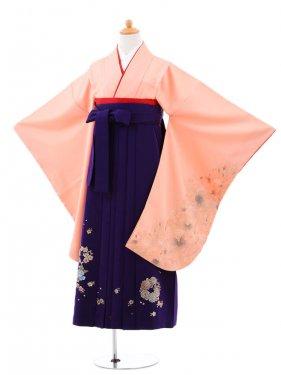 小学生卒業式袴(女の子)レンタルB038サーモン