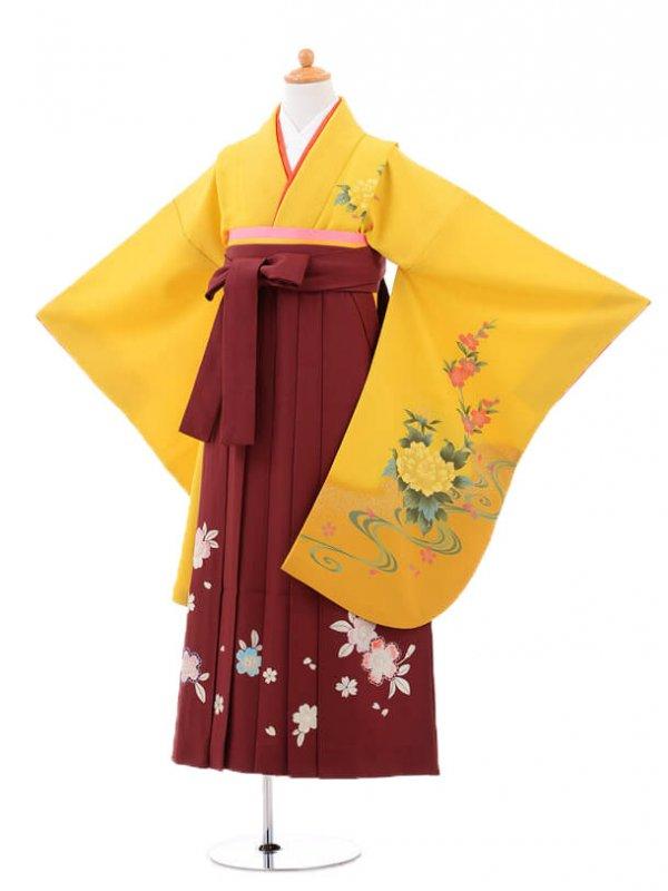 小学生卒業式袴(女の子)レンタルB076黄色
