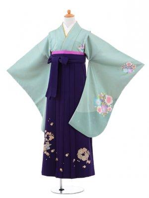 小学生卒業式袴(女の子)レンタルB021グリー