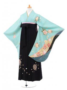 小学生卒業式袴(女の子)レンタルB075グリー