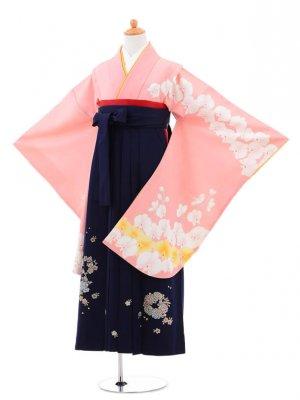 小学生卒業式袴(女の子)レンタルB024ピンク