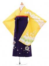 小学生卒業式袴(女の子)レンタルB025イエロー