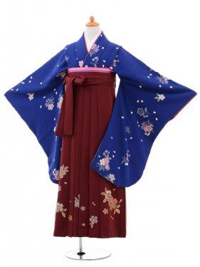 小学生卒業式袴(女の子)レンタルB039青に