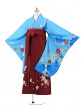小学生卒業式袴(女の子)レンタルB020水色