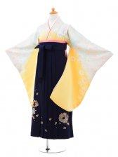 小学生卒業式袴(女の子)レンタルB008イエロー