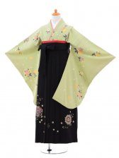 小学生卒業式袴(女の子)レンタルB011グリー