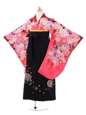 小学生卒業式袴(女の子)レンタルB004ピンク