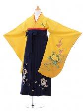 小学生卒業式袴(女の子)レンタルB064黄色