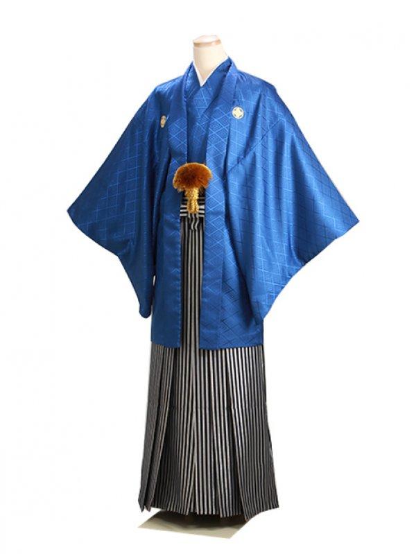 男紋付袴 卒業式 成人式 青 Mサイズ