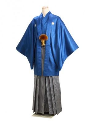 男紋付袴 卒業式 成人式 青 Lサイズ