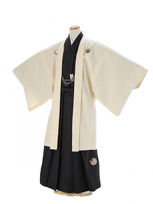 紋付 羽織着物 白×黒 XJL001