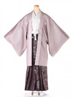 紋付 羽織着物 紫グリッター