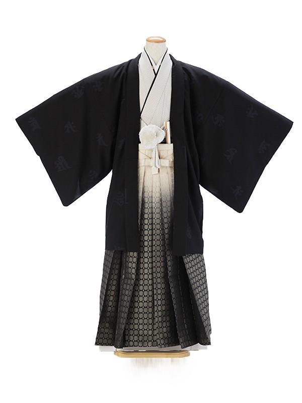 羽織・袴0033黒・クリーム6号