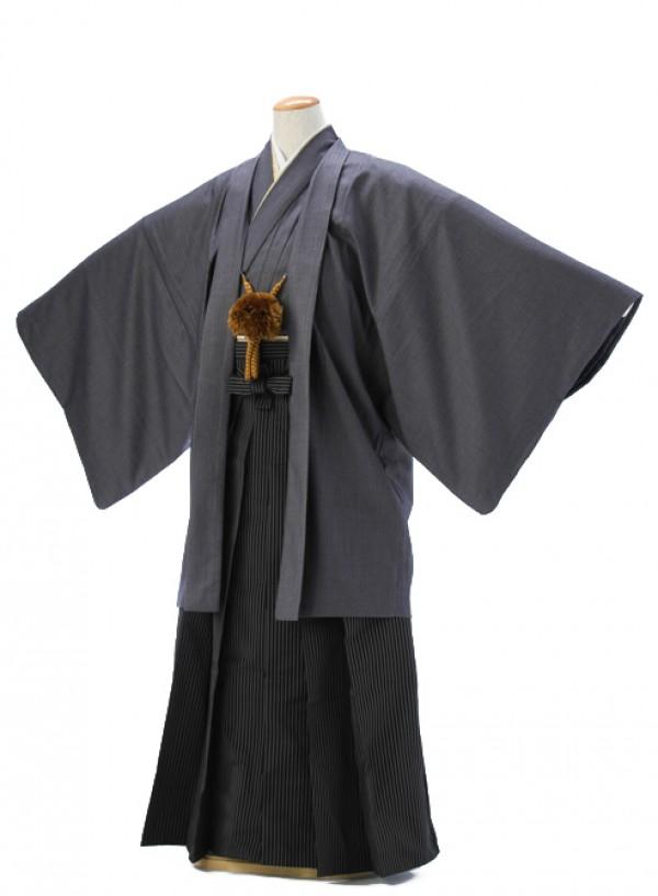 羽織・袴0039グレー地縞