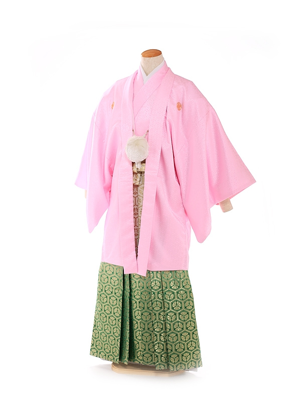 紋付 羽織着物 ピンク 5号
