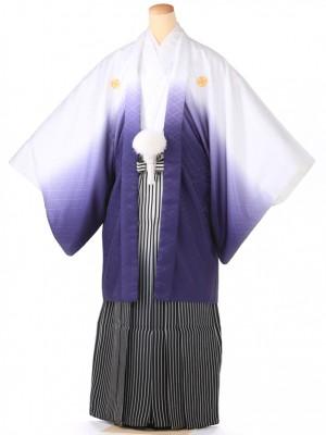 紋付 羽織着物 ホワイトボカシ