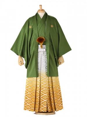 成人式 卒業式 男 袴レンタル 緑 136