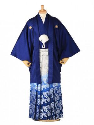 成人式 卒業式 男 袴レンタル 青 0098