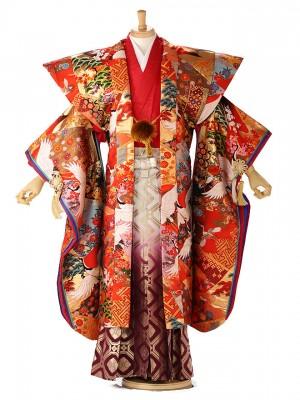 【打掛オリジナル】 袴レンタル BASARA  赤 127