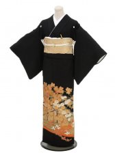 黒留袖レンタル4199金花