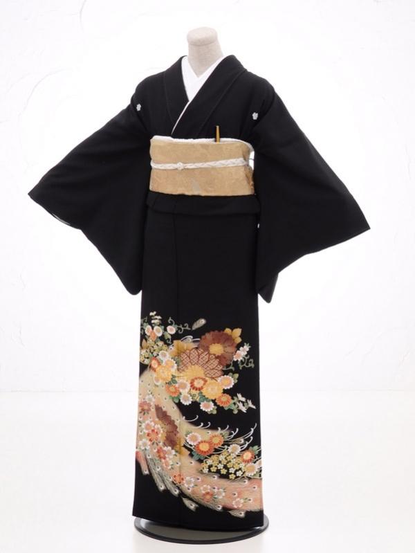 黒留袖レンタル4279流れ菊