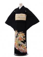 黒留袖レンタル4422花と雪輪