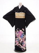黒留袖レンタル4333HANAE MORI京友禅花とリ