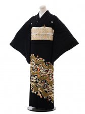 黒留袖レンタル4311吉祥紋様刺繍