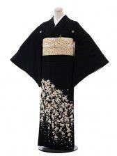 黒留袖4350刺繍垂れ桜
