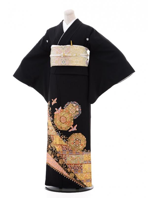 黒留袖レンタルQ4-78 華紋おしどり