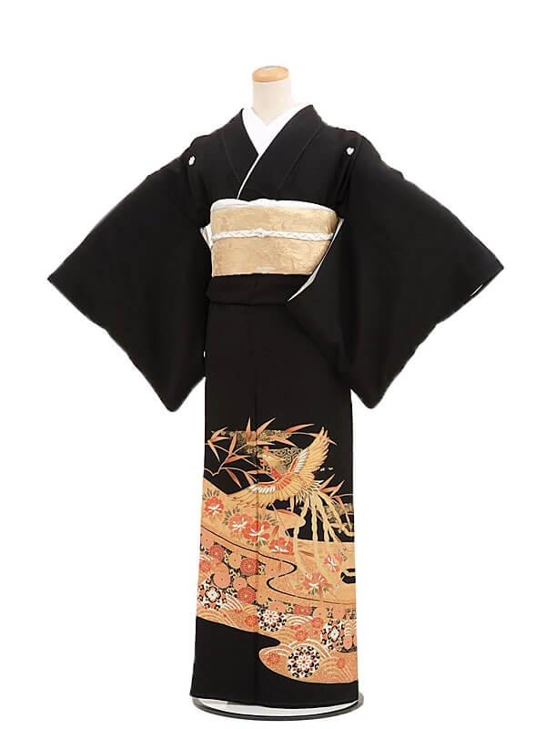 黒留袖レンタルQ4-60鳳凰