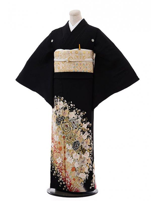 黒留袖レンタル4415桂由美バラ