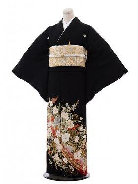 黒留袖レンタル4388桂由美バラ金彩