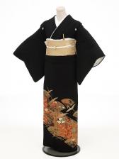 黒留袖レンタル4183舞扇
