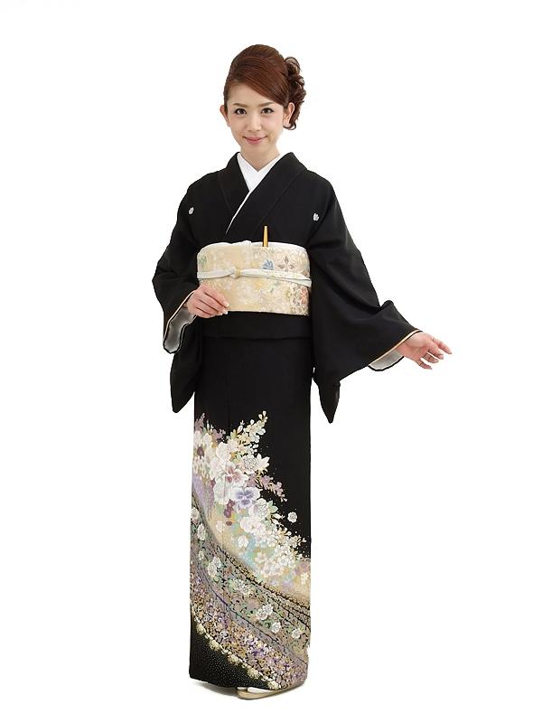 黒留袖レンタル4329桂由美祝宴の花束