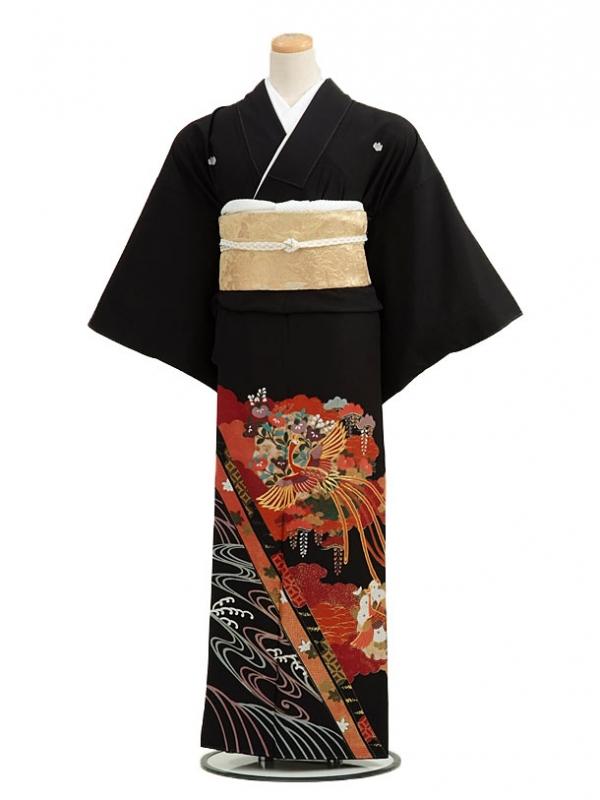 黒留袖レンタルC4009茶系鳳凰