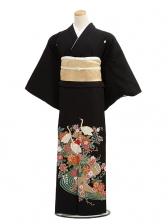 黒留袖C4016流水に鶴