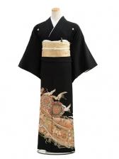 黒留袖レンタル4228春秋の鶴舞