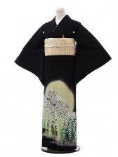 黒留袖レンタル4441桂由美 桜ちらしヒワ色