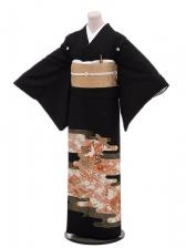 黒留袖レンタル4289桜紋様