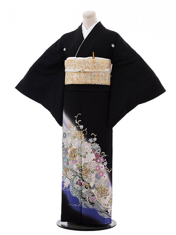 黒留袖レンタル4390桂由美バラ伝説