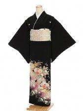 黒留袖レンタル4260紫ぼかし花模様