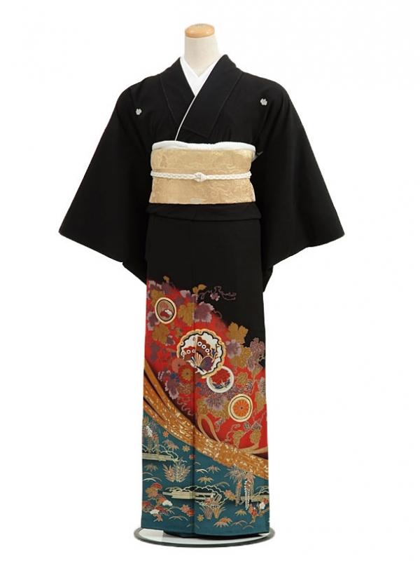黒留袖レンタルC4007熨斗に蝶